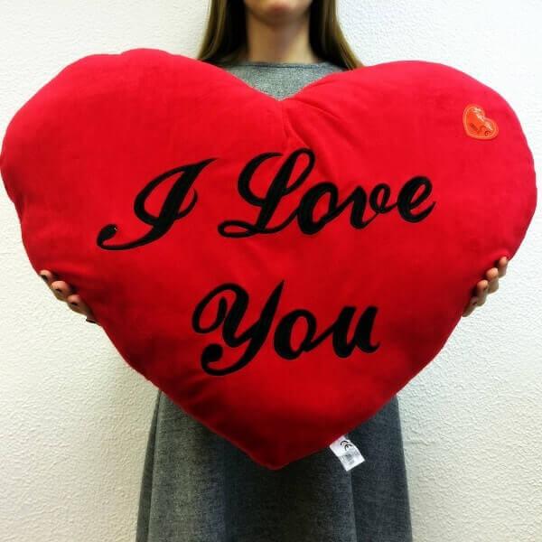 Širdis - pagalvė XXL