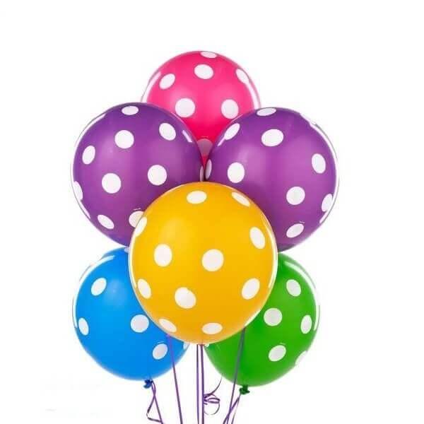 Taškuoti helio balionai