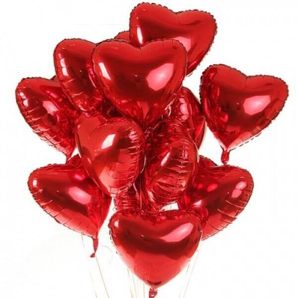 """XL helio balionas """"Širdelė"""""""