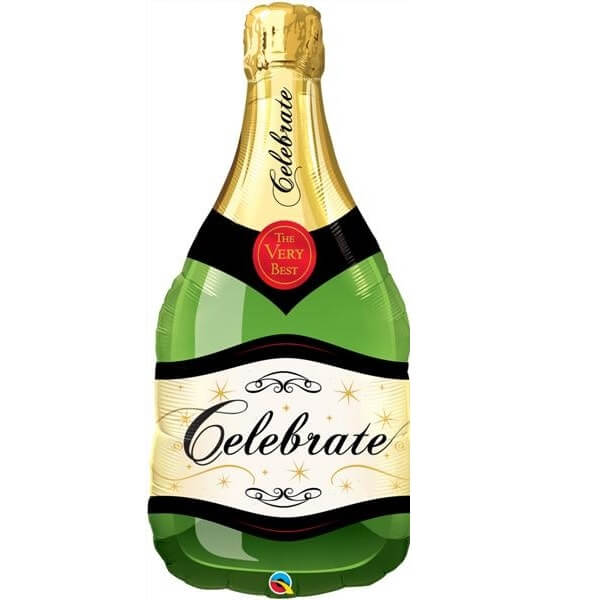 XXL helio balionas šampano butelis