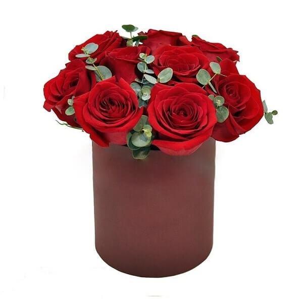9 roses flower box