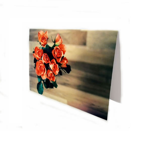 "Greeting card ""Roses in a vase"""