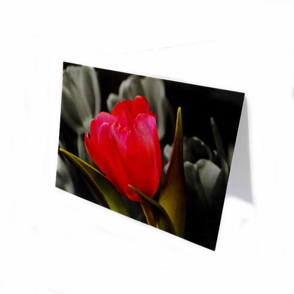 "Greeting card ""Bright flower"""