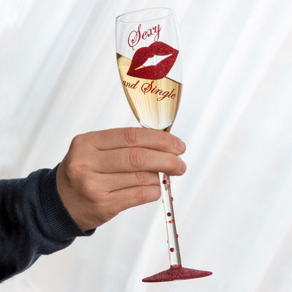 """Šampano taurė """"Seksuali ir vieniša"""""""