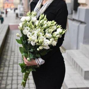 Eustomos gėlių puokštė