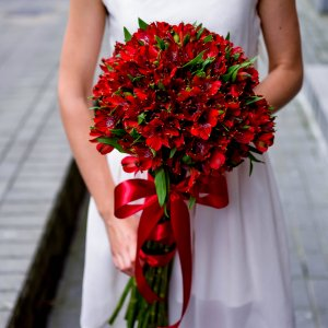 Alstroemerias flowers bouquet