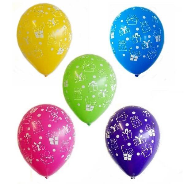 "Multi color helium balloons ""Gifts"""
