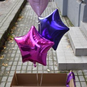 3 balionai dėžėje