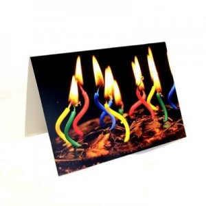 card birthday candles