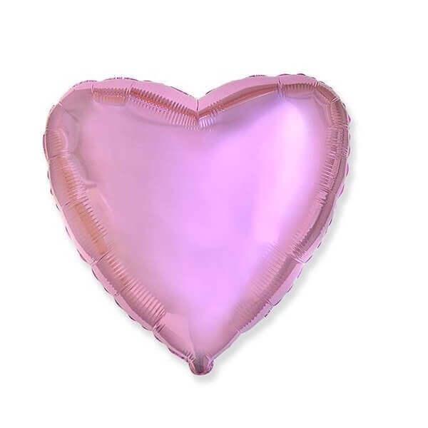 """""""Rožinė širdelė"""" foliniai helio balionai"""