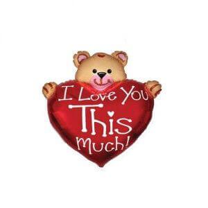«Мишка с сердцем» гелиевые шарики