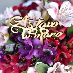 """""""Aš tavo tu mano"""" lazdelė į gėlių dėžutės"""
