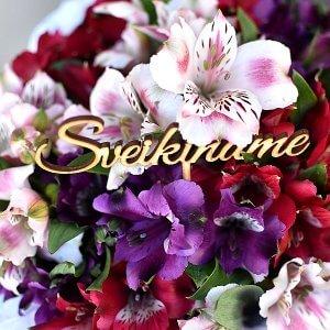"""""""Sveikiname"""" lazdelė į gėlių dėžutės"""