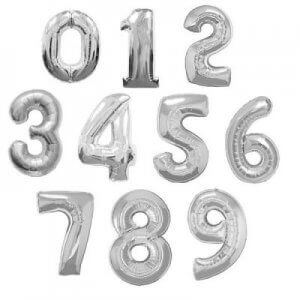 Helium number shaped balloons
