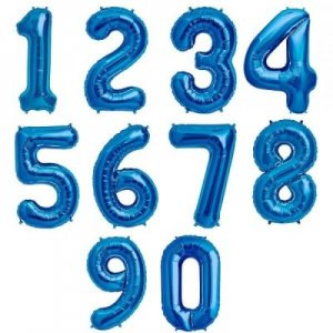 Helium foil numbers balloons