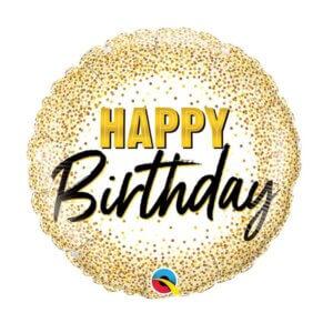 Helio balionas su blizgučiais linksmo gimtadienio