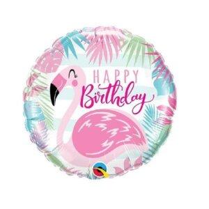 Folinis helio balionas rožinis flamingas