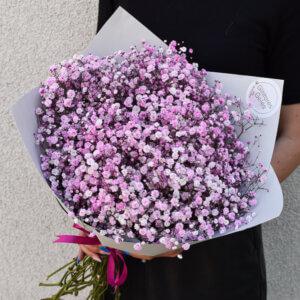 Gipsofilijų puokštė gimtadienio gėlės